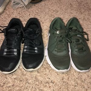 Lot of two Men's Under armour shoes size 9